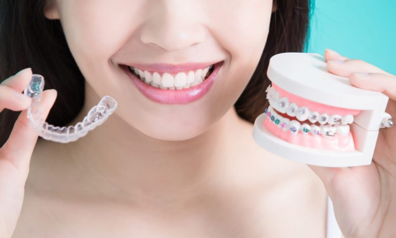 Orthodontist in treatment