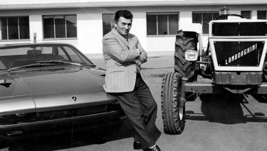Photo of which entrepreneur made tractors before entering the sports car business?